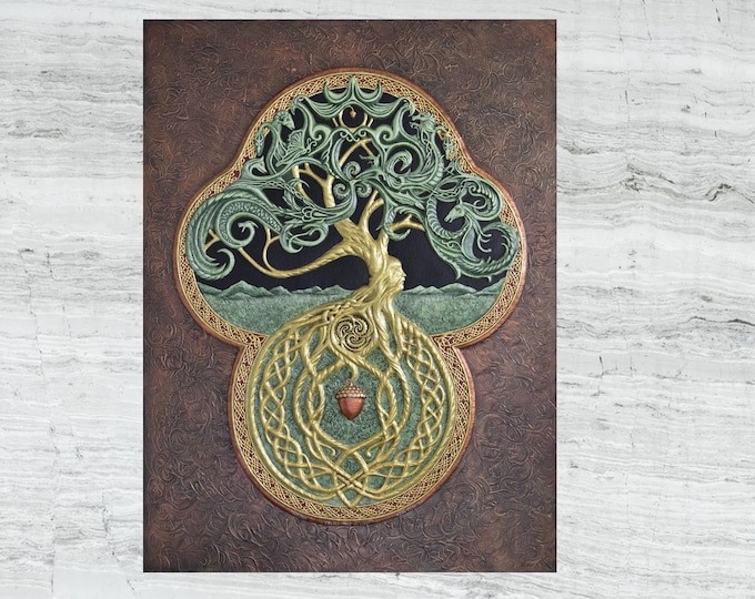 The Celtic Tree of Life- Large Cast Paper