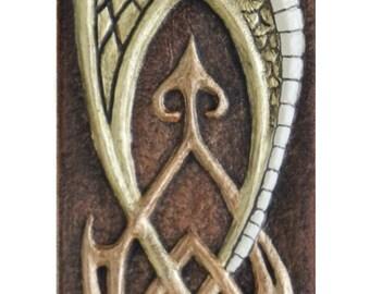 Guardian - The Protector Dragon - Cast Paper - Fantasy art - Celtic Dragon - Celtic Knot - Irish art -  Draco - Wyrm