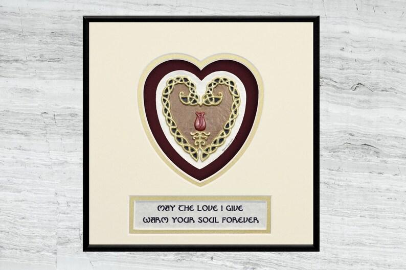 Celtic Love Knot  Cast Paper  Celtic knot  wedding gift  image 0