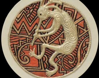 Kokopelli - Cast Paper - south western art - Anasazi