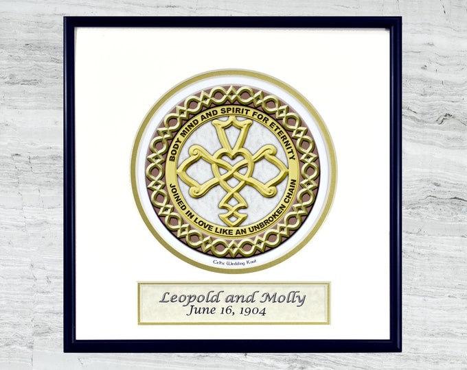 Personalized Celtic Wedding Knot  - framed digital print