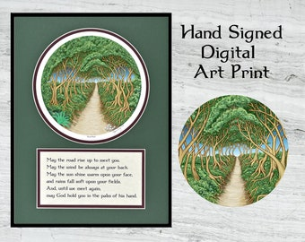 """May the Road Rise up to Meet You - Framed Digital Print 12"""" x 16"""""""