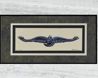 Raven Flight - cast paper art