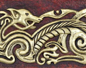 Celtic Dog -Cast Paper - Zoomorphics - Dog knot - Irish Dog- Irish art - Celtic art - Scottish art - Dog - Canine - Celtic knot
