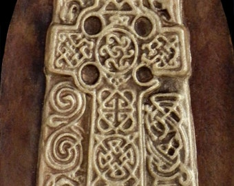 Aberlemno Stone - Cast Paper - Celtic Cross - Scottish Art - Irish art - Highlander - Pictish - Stone Cross
