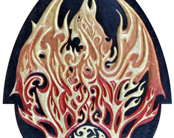 Phoenix - Cast Paper - Fantasy art - Phenix - Greek Mythology - Bennu - Fire - Solar