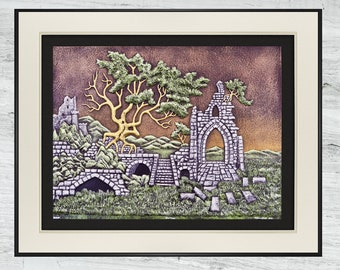 Heritage - Cast Paper - Castle - Ruins -Welsh - Scottish - Ireland - Ancient
