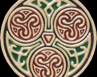 Celtic Family Circle - Cast Paper - Celtic Blessing - Irish art - Celtic art - Scottish art - Irish gift -Celtic Wheel