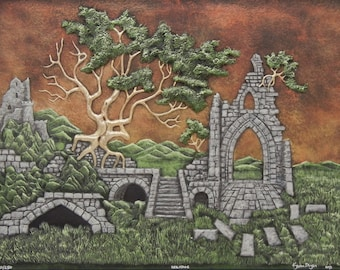Heritage - Cast Paper - Castle - Ruins -Welsh - Scottish - Ireland - Ancient