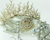 Gold Sprig Tiara by Basia Zarzycka
