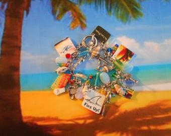 parrothead jimmy buffett margaritaville tropical beach parrot flip flop original bracelet