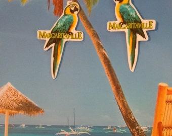 parrothead jimmy buffett margaritaville tropical beach  charm earrings
