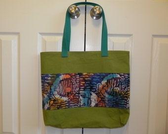 Embellished Olive Tote Bag 3 Options