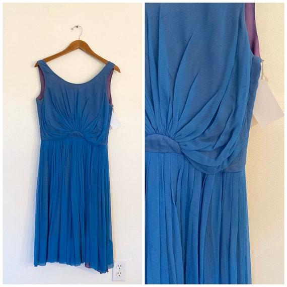 Vintage Chiffon Dress / Medium/Large / She Swims a