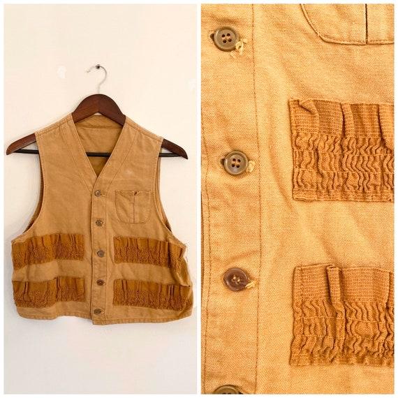 Vintage 1940's Hunting Vest / Sm/Med / 1940's Vest