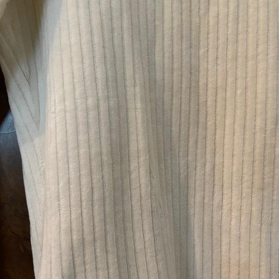 Vintage 1990s Ribbed Bodysuit / L / Cream Velour … - image 5