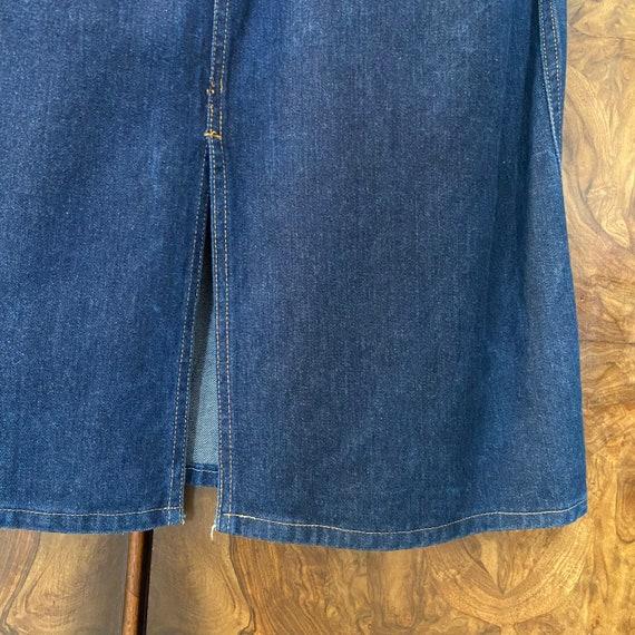"Vintage 80s Denim Skirt / 27"" Waist / Nest Ce Pas - image 7"