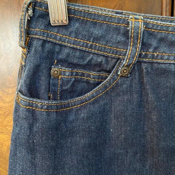 "Vintage 80s Denim Skirt / 27"" Waist / Nest Ce Pas - image 5"