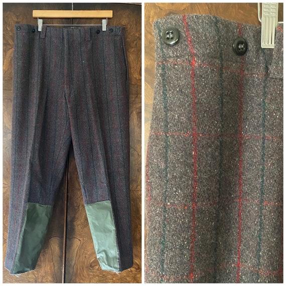 """Vintage 1940's Wool Hunting Pants / 40"""" Waist / Wo"""