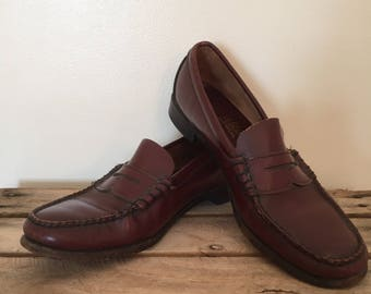 Vintage LL Bean Penny Loafers / Women's Size 9 / Leather Loafers