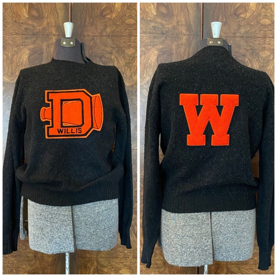 Vintage 40's/early 50's Letterman's Sweater / L/XL