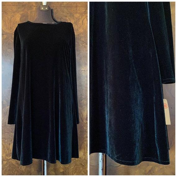 Vintage NWT 1990's Green Velvet Dress / XL/XXL / P