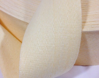 2 inch Cotton Twill Tape 20 yards long Natural cream