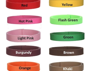 Cotton Webbing 40 yards 1 inch You Pick Colors Key Fobs Belts Purse Bag Straps Leash