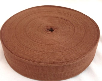 Cotton Twill Tape 2 inches wide 12 yards long Chocolate Brown