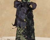 Victorian Perfume Bottle Keepsake - Vintage Style - Black