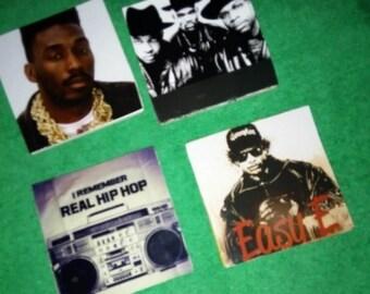 Old school hip hop coasters