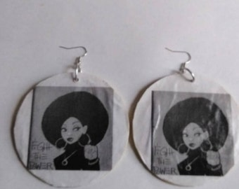 large power to the people earrings