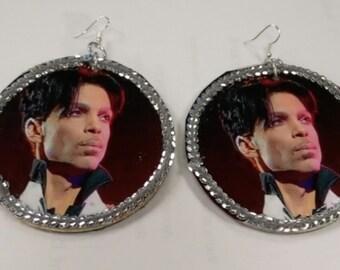 Prince bling earrings