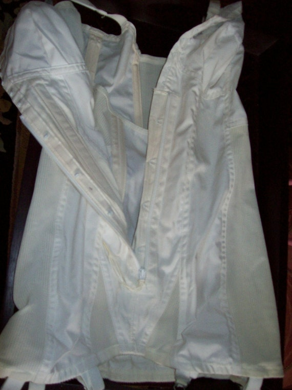Vintage White Full Body Corset Boustier - Lace - … - image 3