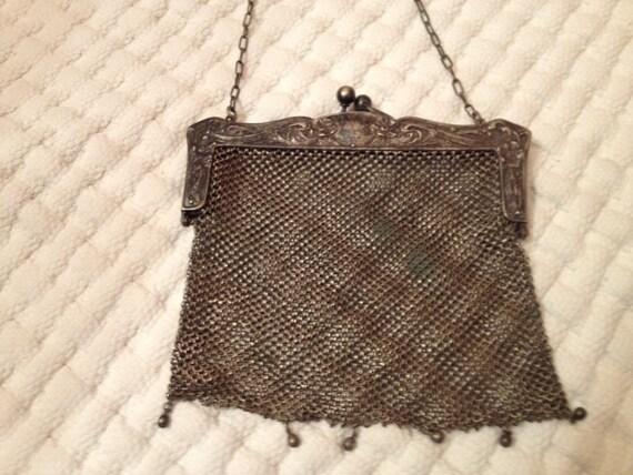 1920's German mesh metal purse
