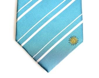 Thin Bordered Uruguay Flag Square Tie Clip