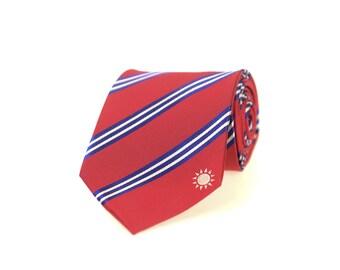 Tainan City Taiwan Flag Gold-tone Tie Clip