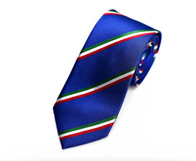 Italy Skinny Tie  Inspired by the Italian Flag. 2.5 image 0