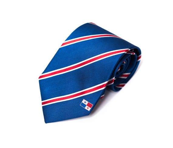 Father/'s Day Husband Gift Inspired by the Guatemala Flag with Personalized Tag Guatemala Tie LDS Missionary Missionary Gift.