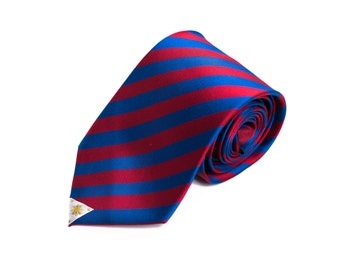 Philippines Tie - Inspired by the Filipino Flag with Personalized Tag. LDS Missionary. Husband Gift, Missionary Gift.