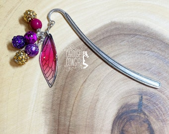 Butterfly Wing Bookmark, Dragonfly Bookmark, Planner Accessories, Planner Charms, Planner Bookmark, Travelers Notebook, Dragonflies, Winged