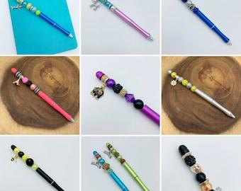 CUSTOM Planner Pen, Custom Beaded Pen, Custom Planner, Planner Pen, Planner Accessories, Bujo, Bullet Journal, Build Your Own, Personalized