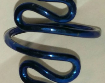Adjustable Anodized  Niobium Ring Hammered