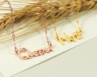 Custom Disney Name Necklace, Kids Name Necklace, Little Girl Name Necklace, Children Necklace, Baby Shower Necklace,Baby Girl Gift,Kids Gift