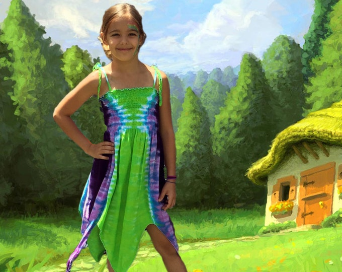 Featured listing image: Purple and Green Fairie Dress - Fairy Costume for Youth and Adults
