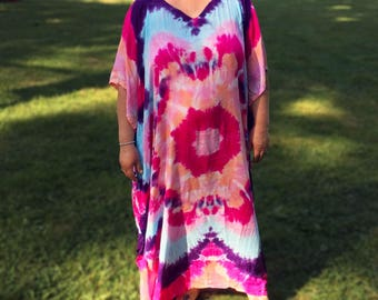 Hand-Dyed Caftan - Beach Cover-up, Muu-Muu, or Patio Dress
