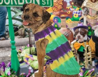 Mardi Gras Tie-Dye Dog Tank