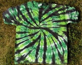 Green and BlackTie-Dye Tee