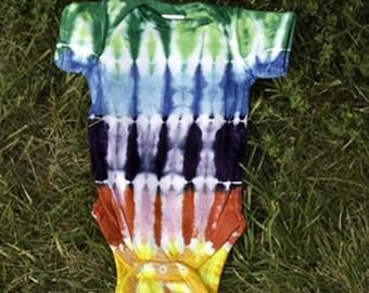 Rainbow Tie-Dye Onsie