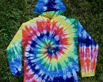 Rainbow Spiral Tie-dye Hoodie